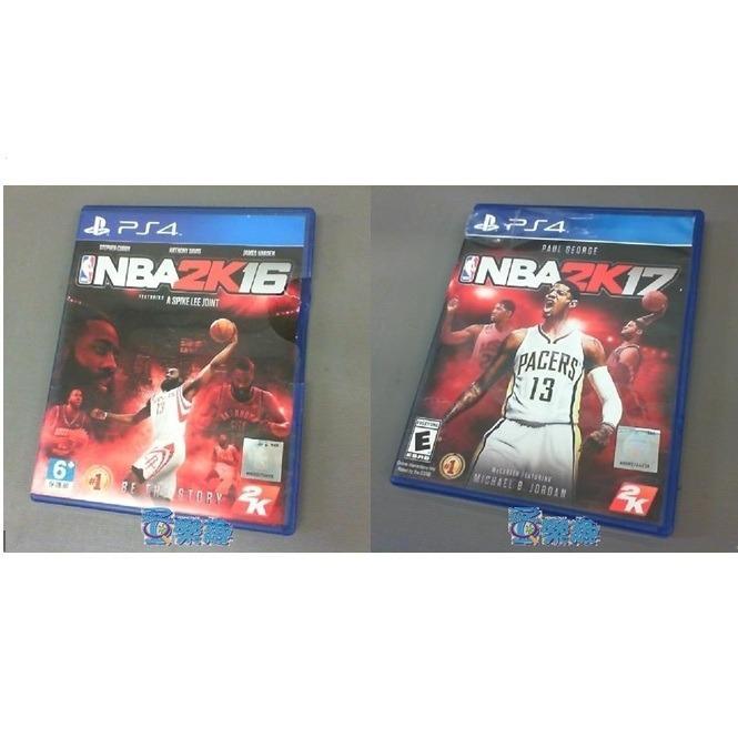 PS4遊戲片~NBA2K16.NBA2K17