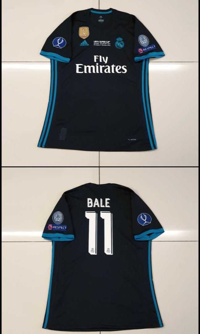 Real Madrid 17-18 Away Jersey UEFA Super Cup #11 BALE