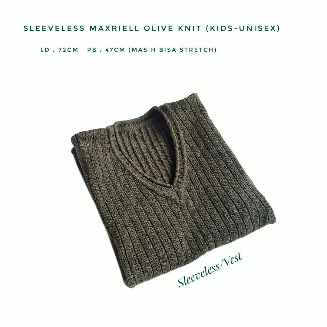 Sleeveless Maxriell Olive Knit (KIDS-UNISEX)