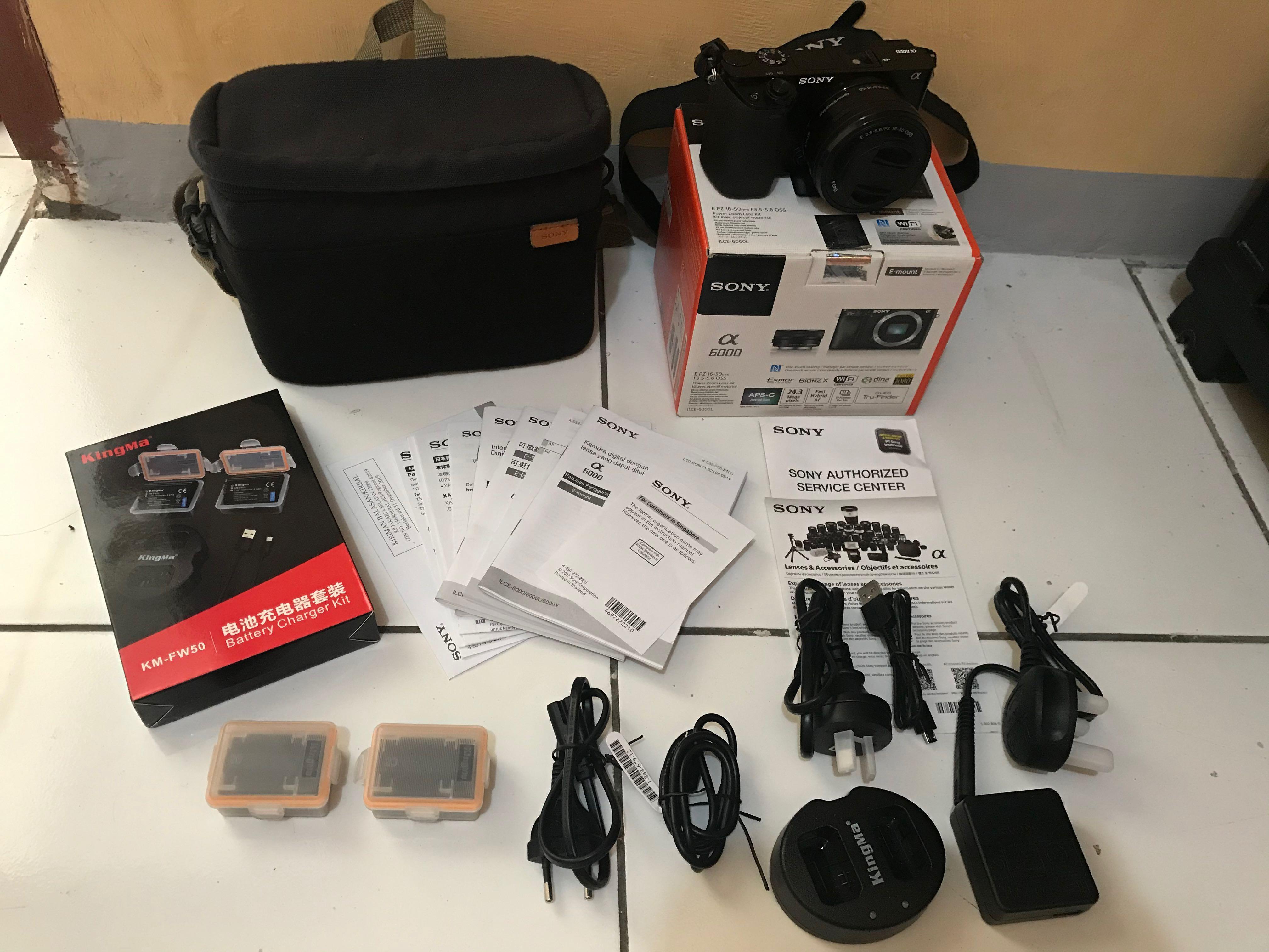 Sony A6000 Bonus: tas, uv filter, batre cadangan