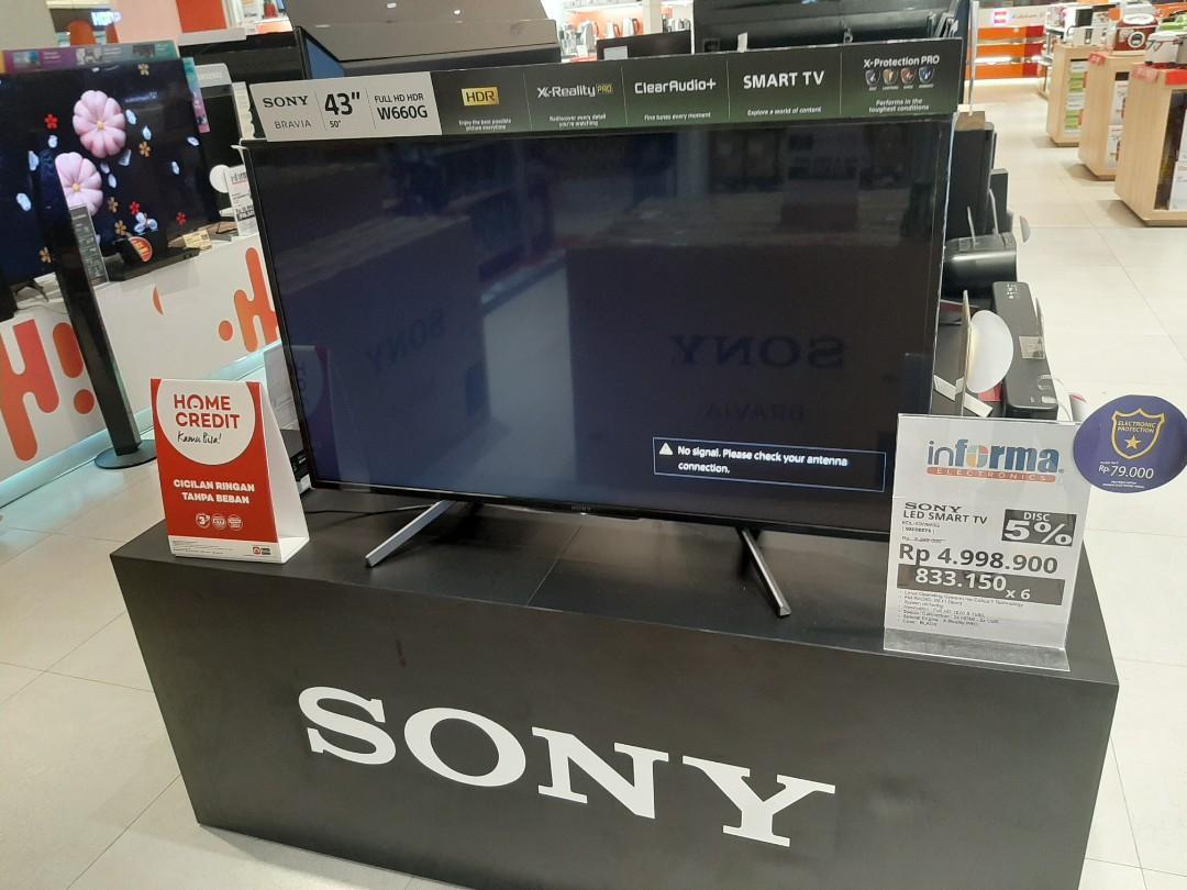 """Sony LED Smart TV 43"""" bisa di kredit"""
