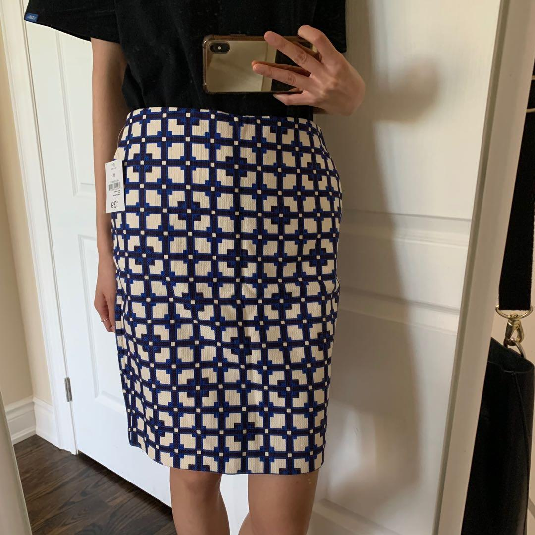 Square-patterned Skirt (Extra Small)