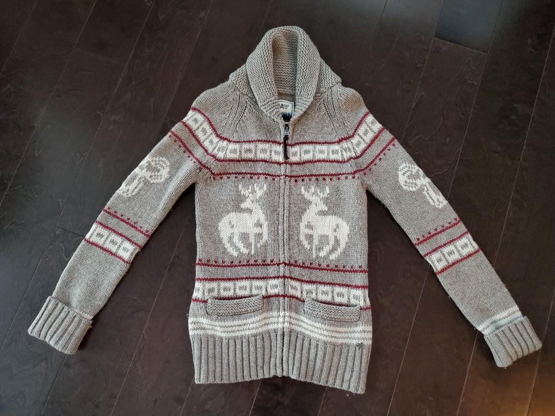 TNA Aritzia Wool Zip Sweater - Small