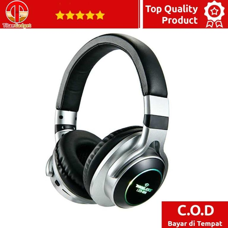Wireless Headphone Bluetooth 5.0 3D Stereo Dengan Mic - LED-008 TitanGadget