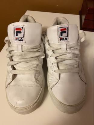 Women's White FILA Sneakers