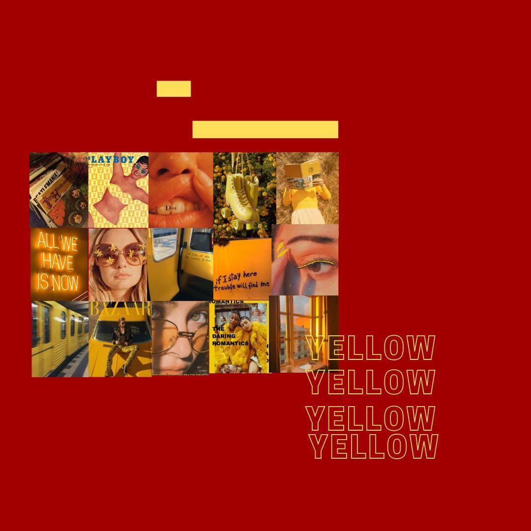 Yellow Aesthetic Poster (Price List di Bio)