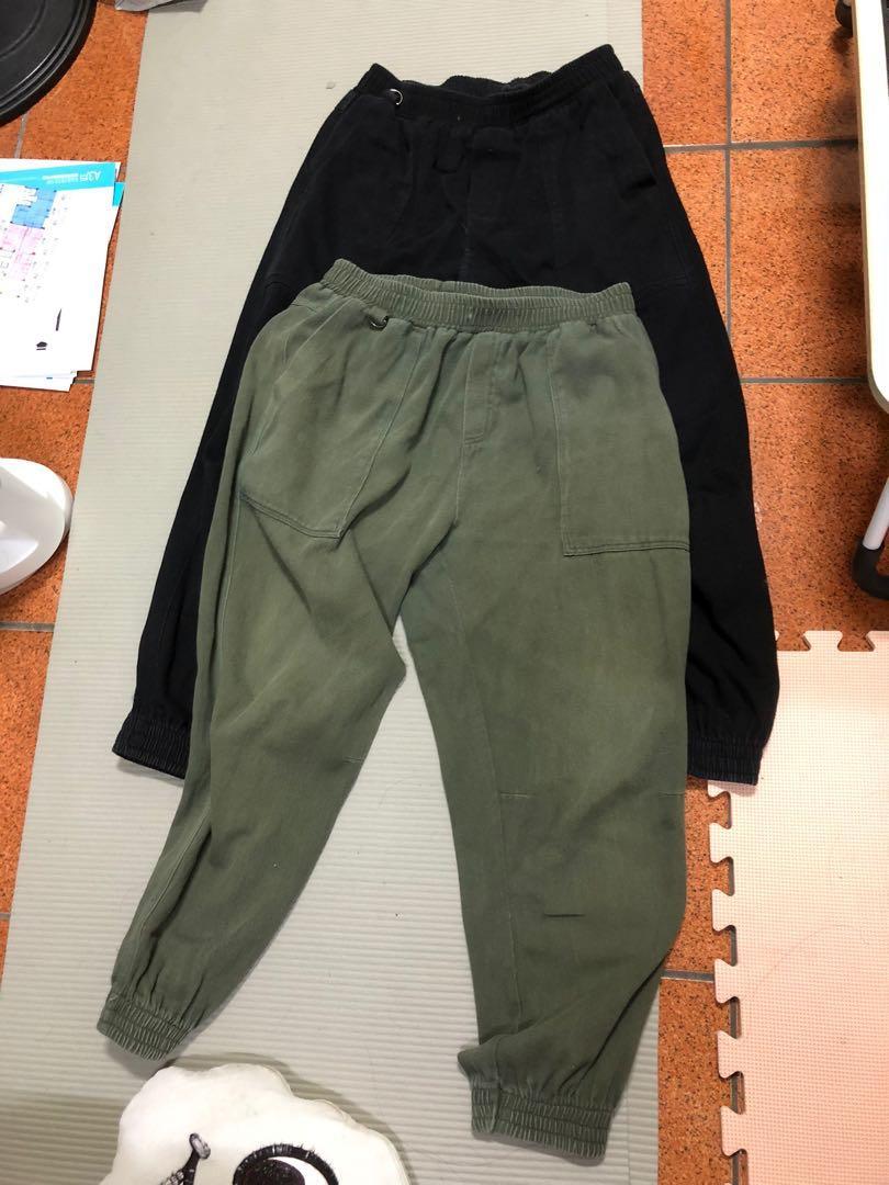 兩條$149 古著縮口褲 L號 適合170~180