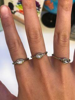 3 Matching Rings Crystals