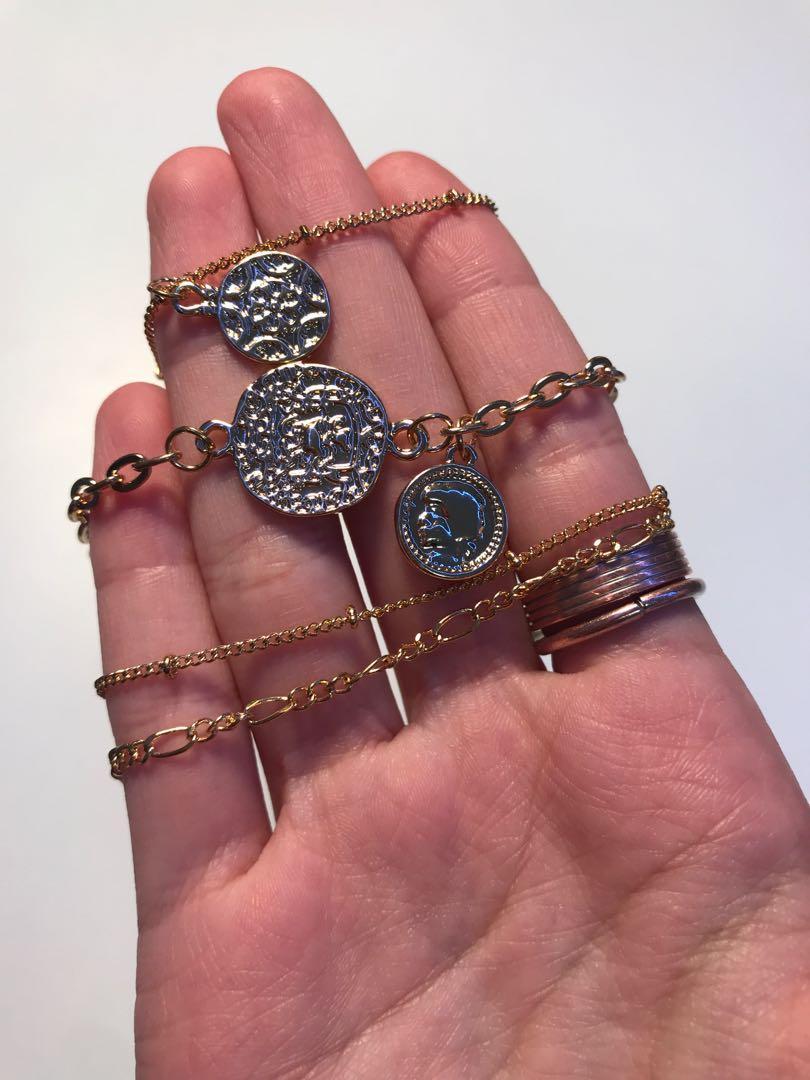 4 Vintage Matching Bracelets