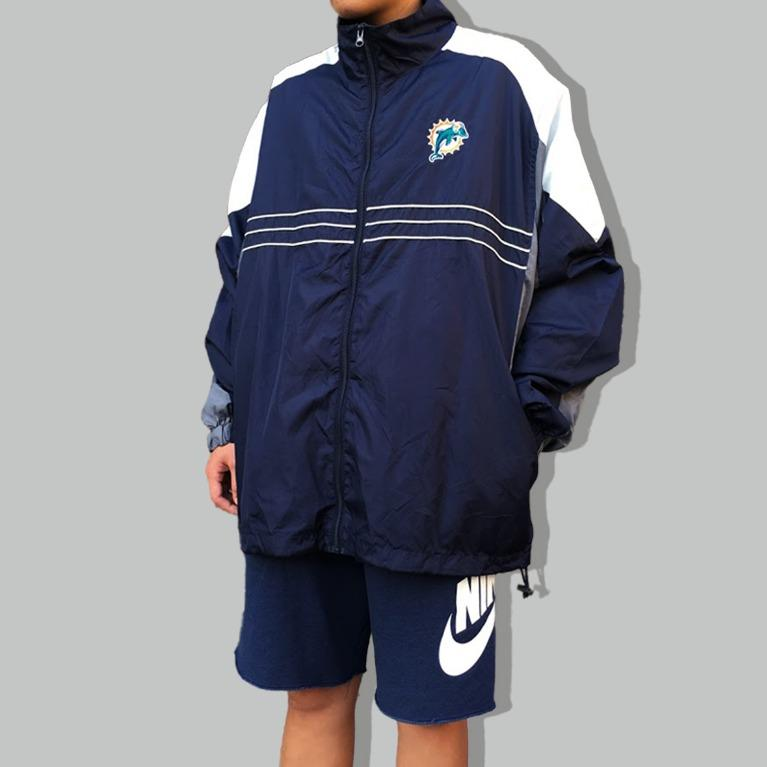 /有關古著/90s NFL Miami Dolphins邁阿密海豚 球隊防風外套