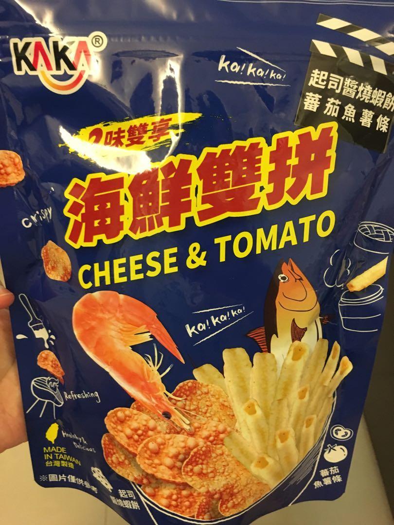 (全新)海鮮雙拼 蝦餅&薯條餅乾 #週慶