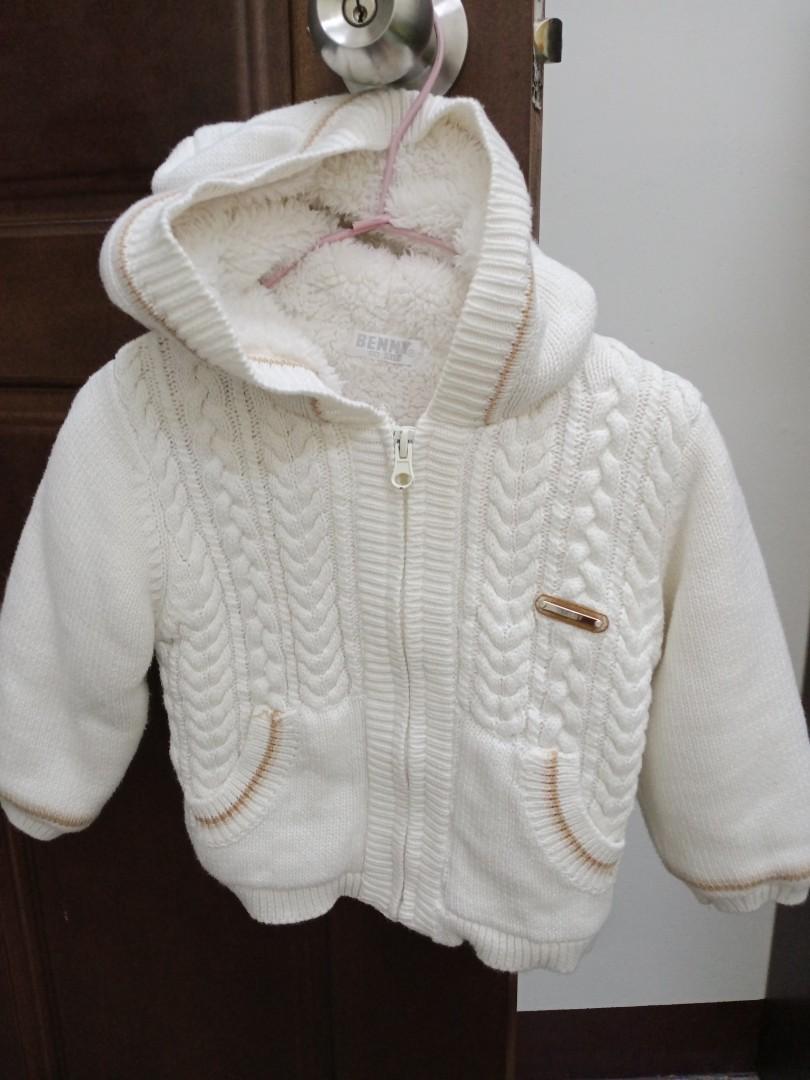 嬰幼兒冬季 厚毛針織外套80cm