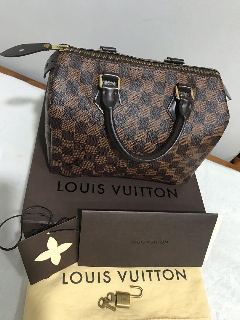 Authentic LV SPEEDY 25 DAMIER EBENE