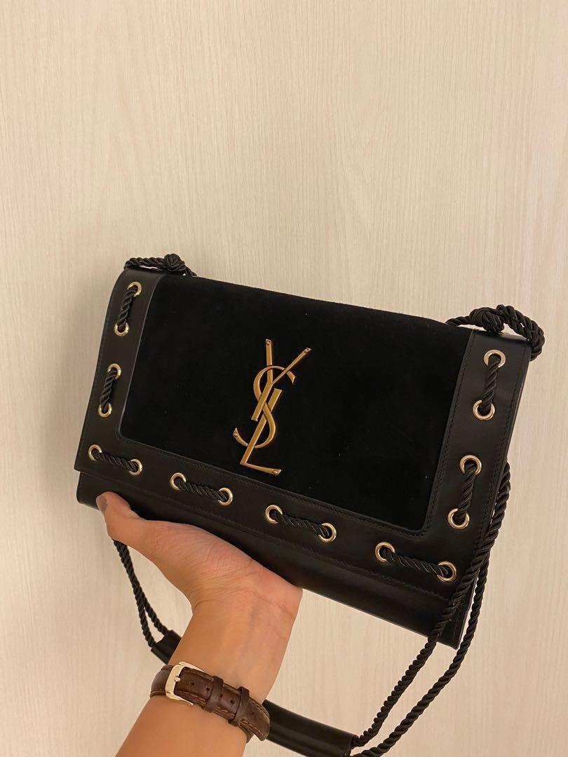 Authentic YSL Saint Laurent Kate Limited Edition Rope Bag