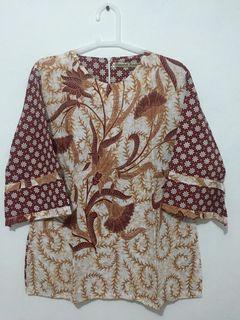 Batik Formal/Kerja/Kantor Lengan Panjang Wanita