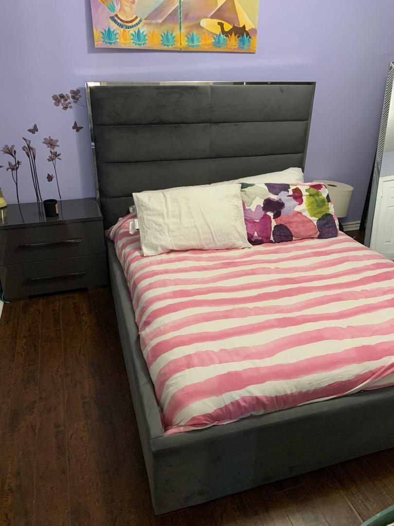BED SET BED FRAME NIGHT STAND AND DRESSER