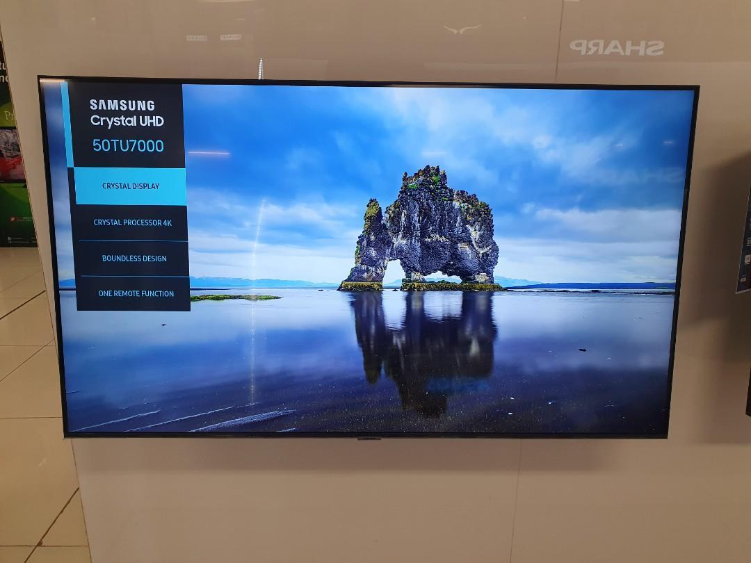 """Bisa Cicil Led Samsung 50"""" Crystal UHD 4K Pdoses 3 Menit"""