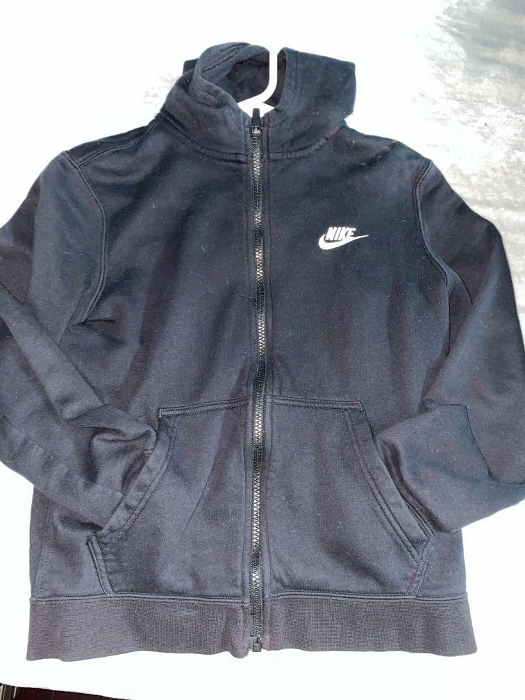 Black nike zip up Kids