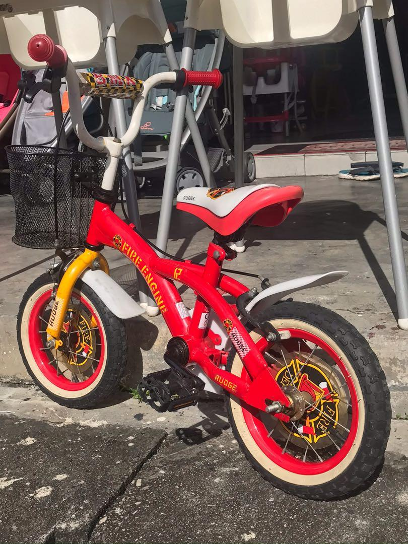 BMX Rudge Red Fire Engine  Kids Childrens Bike  Bicycle 12 inch