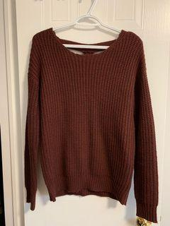Burgundy sweater - urban outfitters