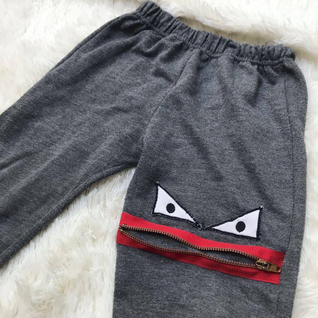Celana joger anak monster usia 3-5 th