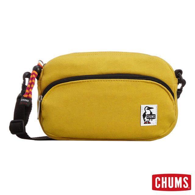 日本Chums芥末黃戶外穿搭側背包/斜肩包