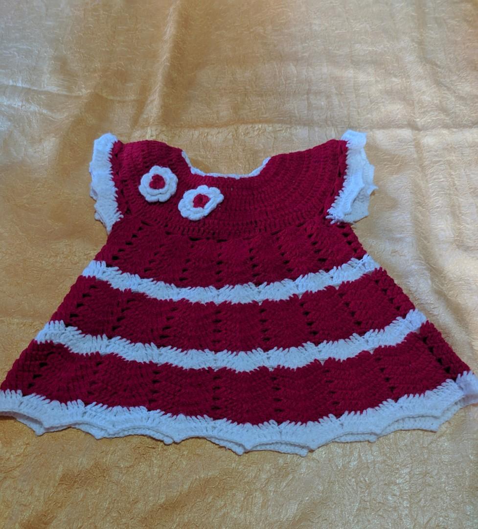 Dress bayi rajut