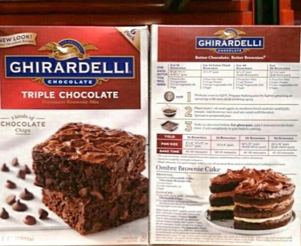 GHIRARDELLI鷹牌巧克力布朗尼預拌粉 3.4kg (請私訊有貨再下單)