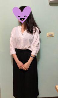GU棉麻材質七分襯衫