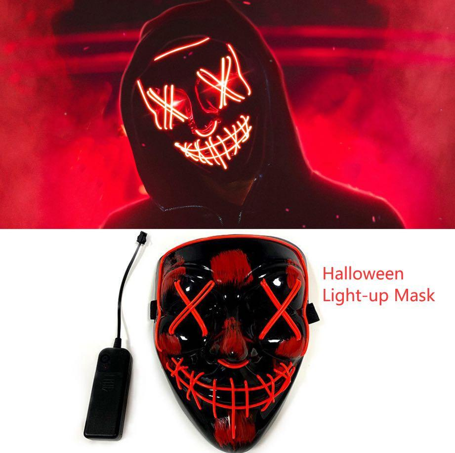 Halloween light up mask and face coverings