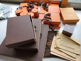 Hermes 愛馬仕 Dior  Tod's 盒子 防塵套