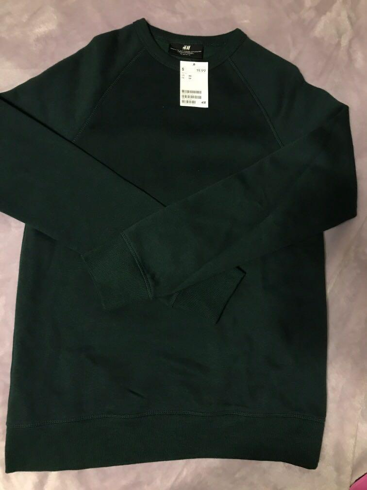 H&M Emerald Green Crewneck