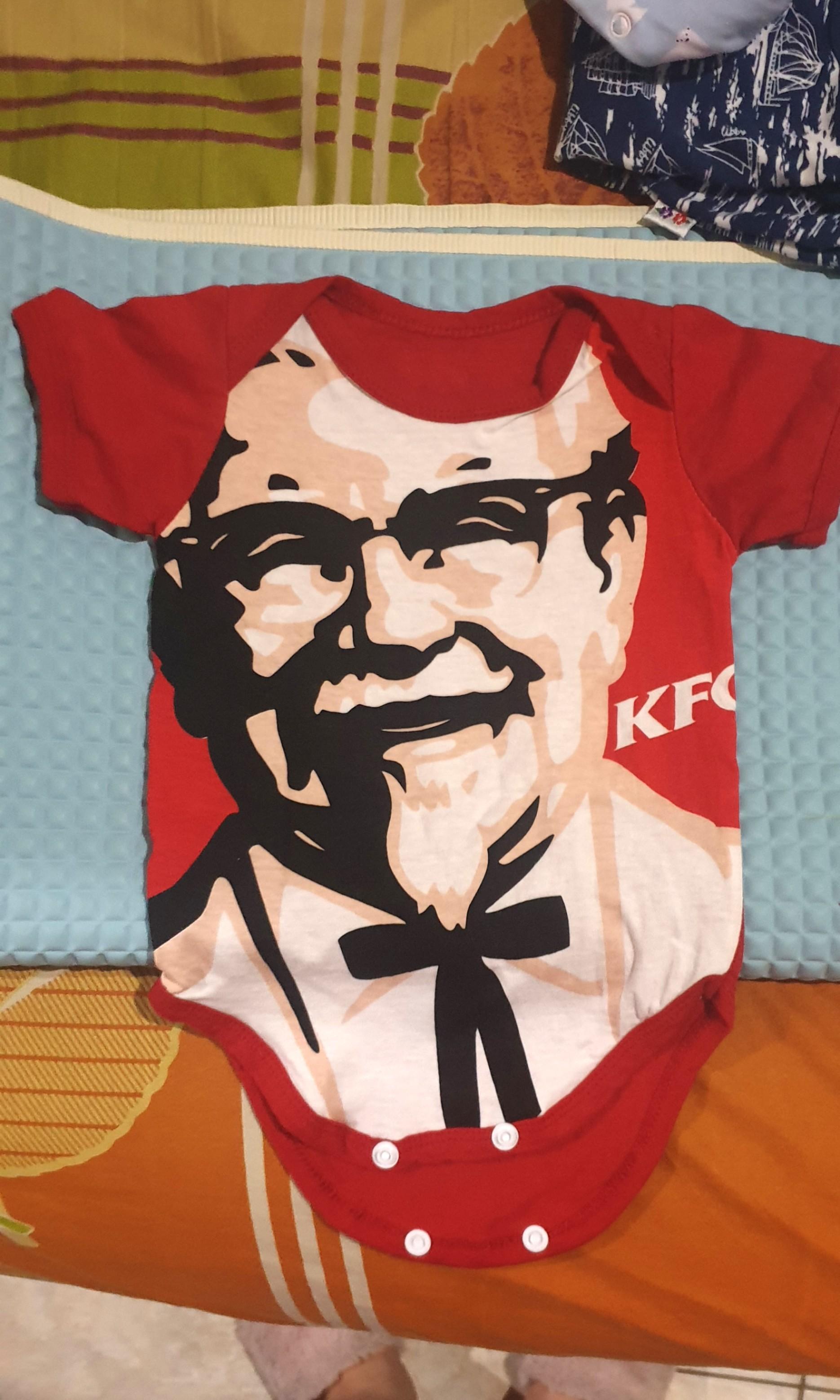 Jumper baby KFC 1x pakai 0-3m