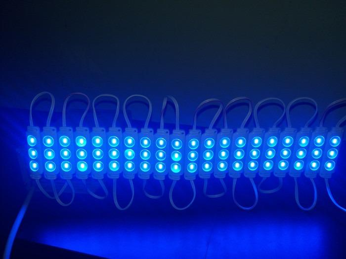 LED modul 3 mata 5730 12V 1,2W biru - eseLED