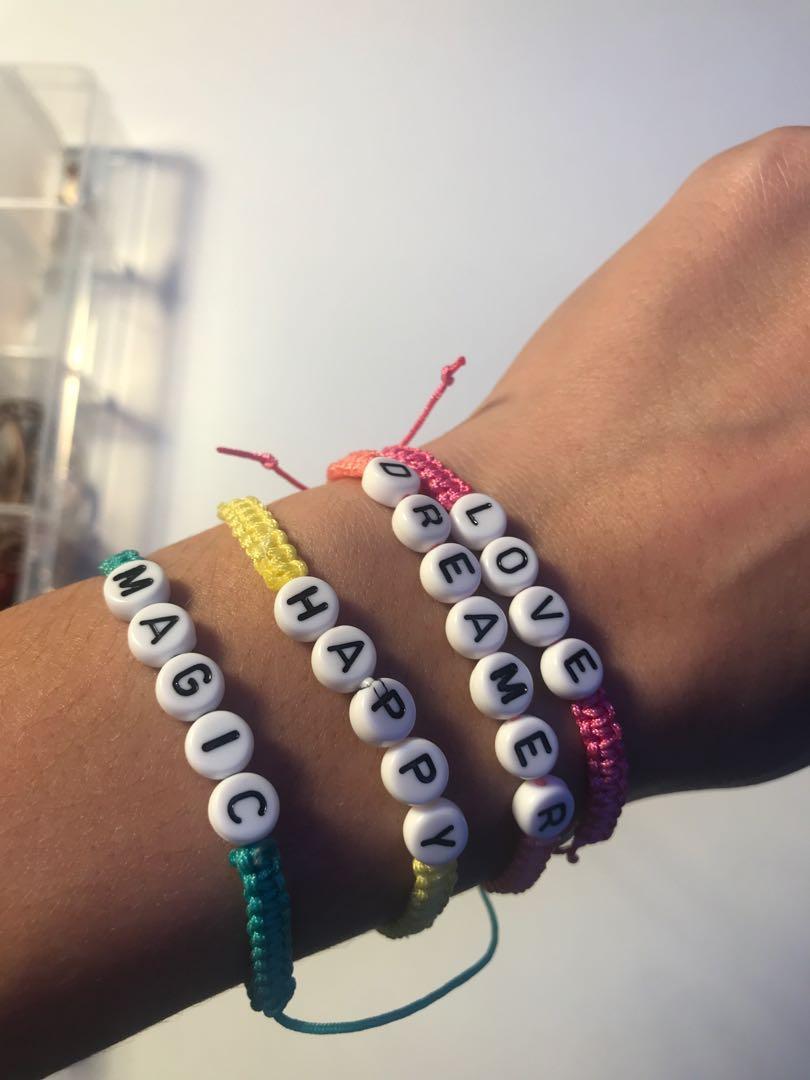 Letter Friendship Bracelets