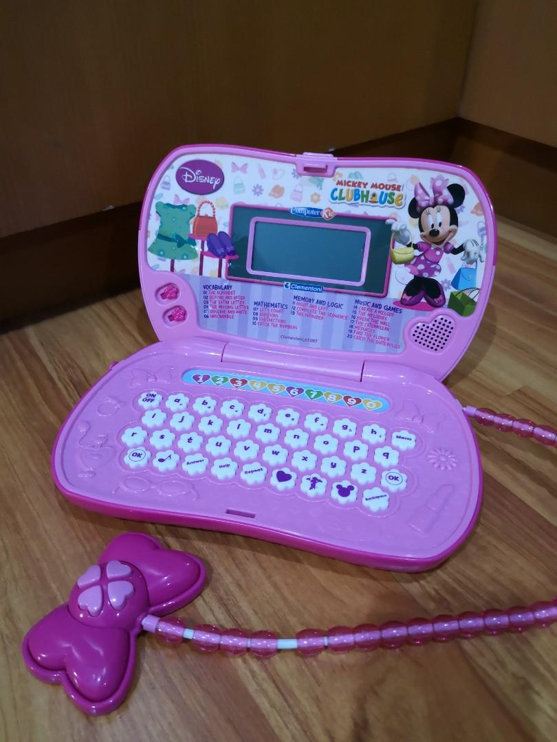 Minnie Mouse Handbag Laptop Clementoni / Mainan Laptop anak