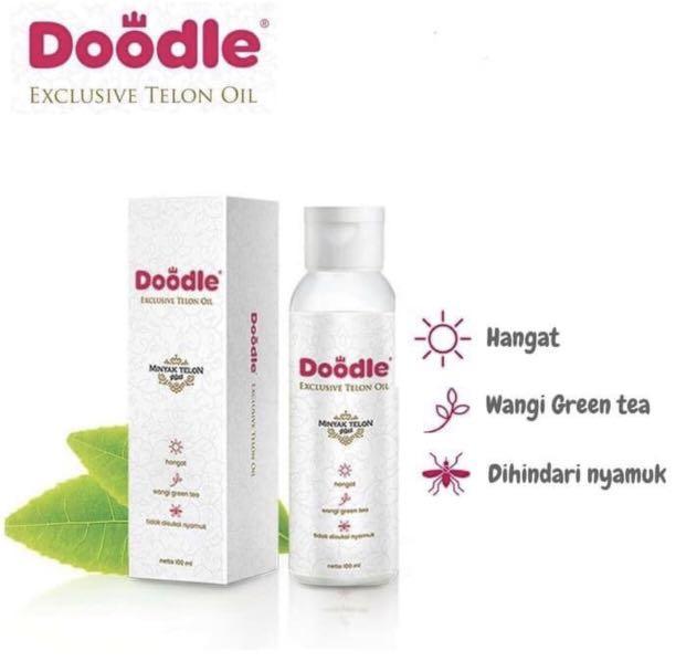 Minyak Doodle Exclusive Telon Oil Wangi Green Tea