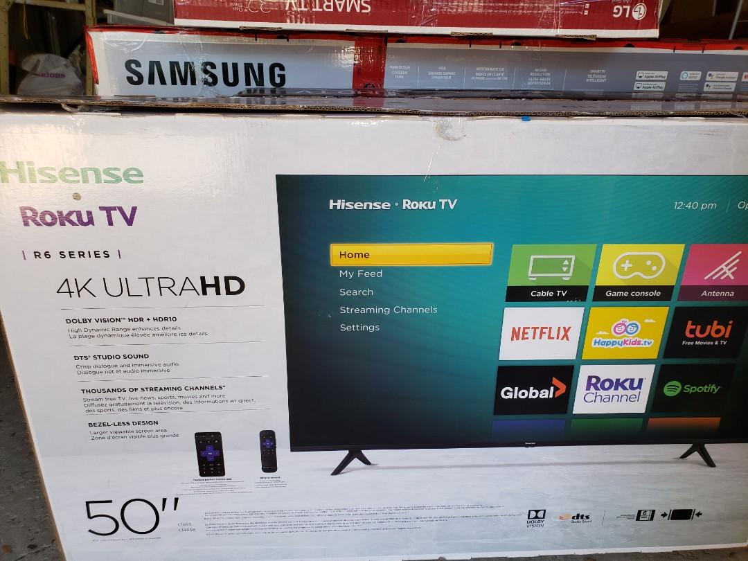 "NEW HISENSE 50"" 4K ROKU Smart TV ONLY $340 No Tax!"