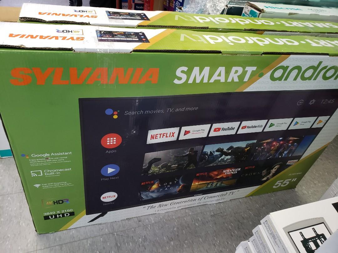"NEW SYLVANIA 55"" 4K ANDROID SMART WITH CHROMECAST $400!"