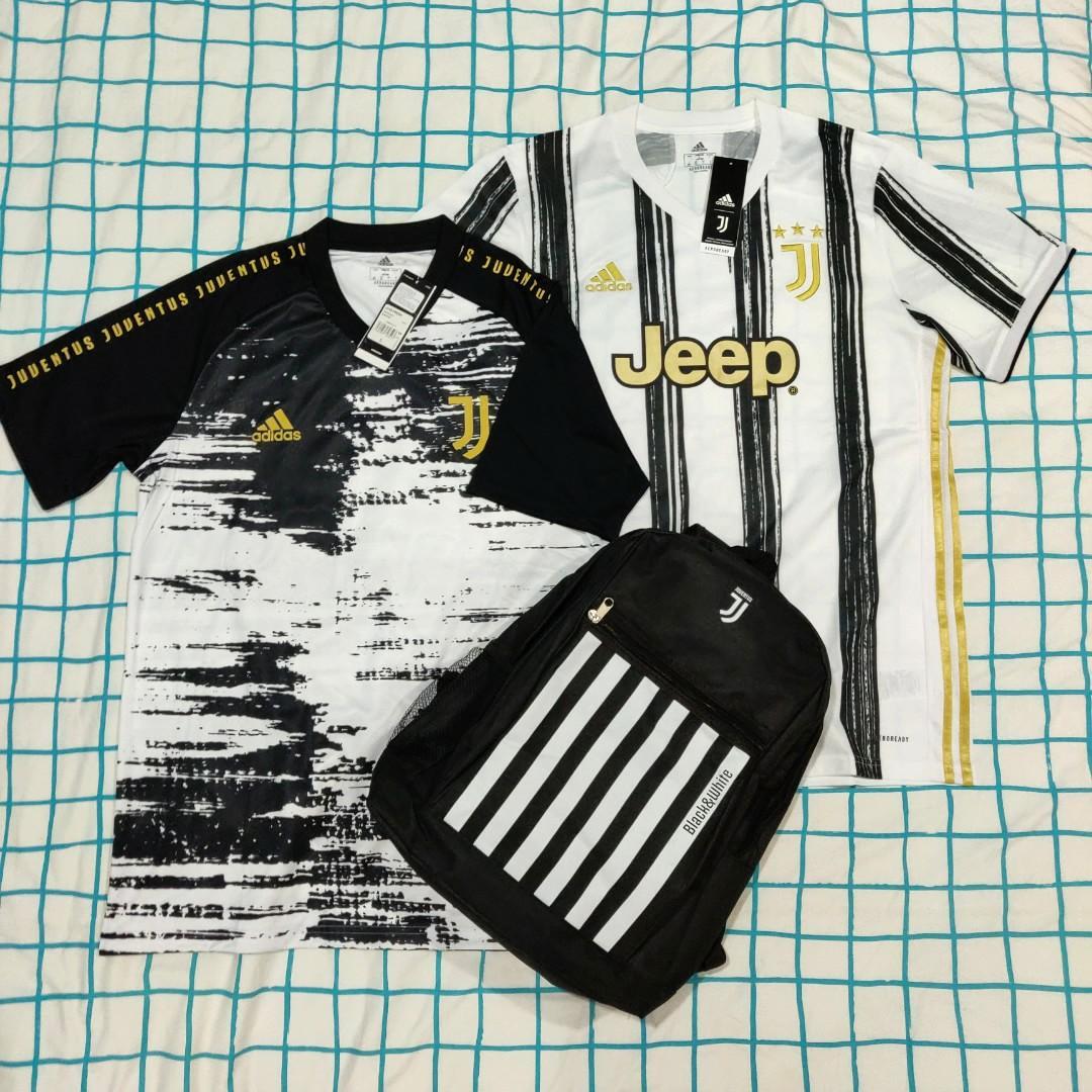 Original Juventus 20/21 Jerseys combo + free backpack
