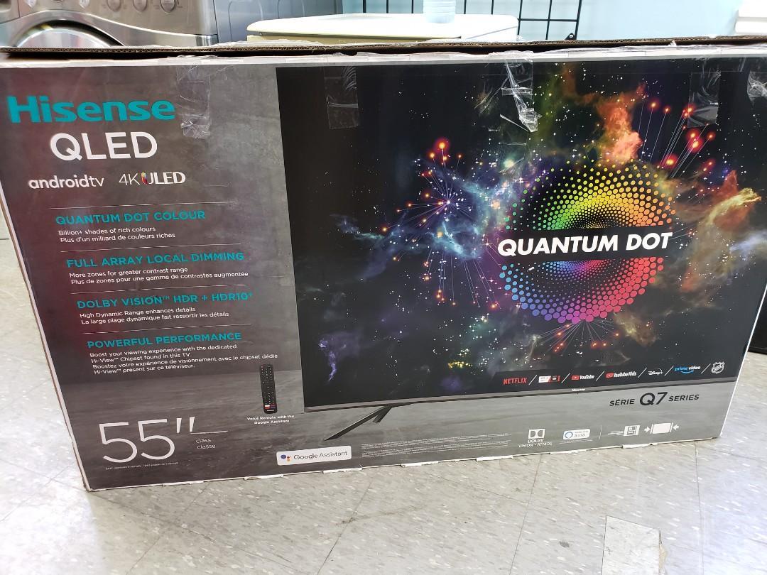 "QLED HISENSE 55"" Q7G 4K ANDROID SMART TV $550!"