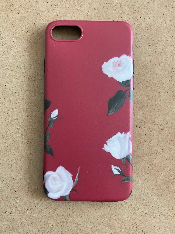 Red Flower Case for Iphone 7