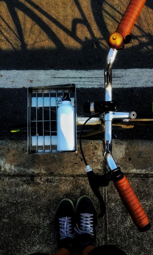 Sepeda Fixie + Keranjang Custom