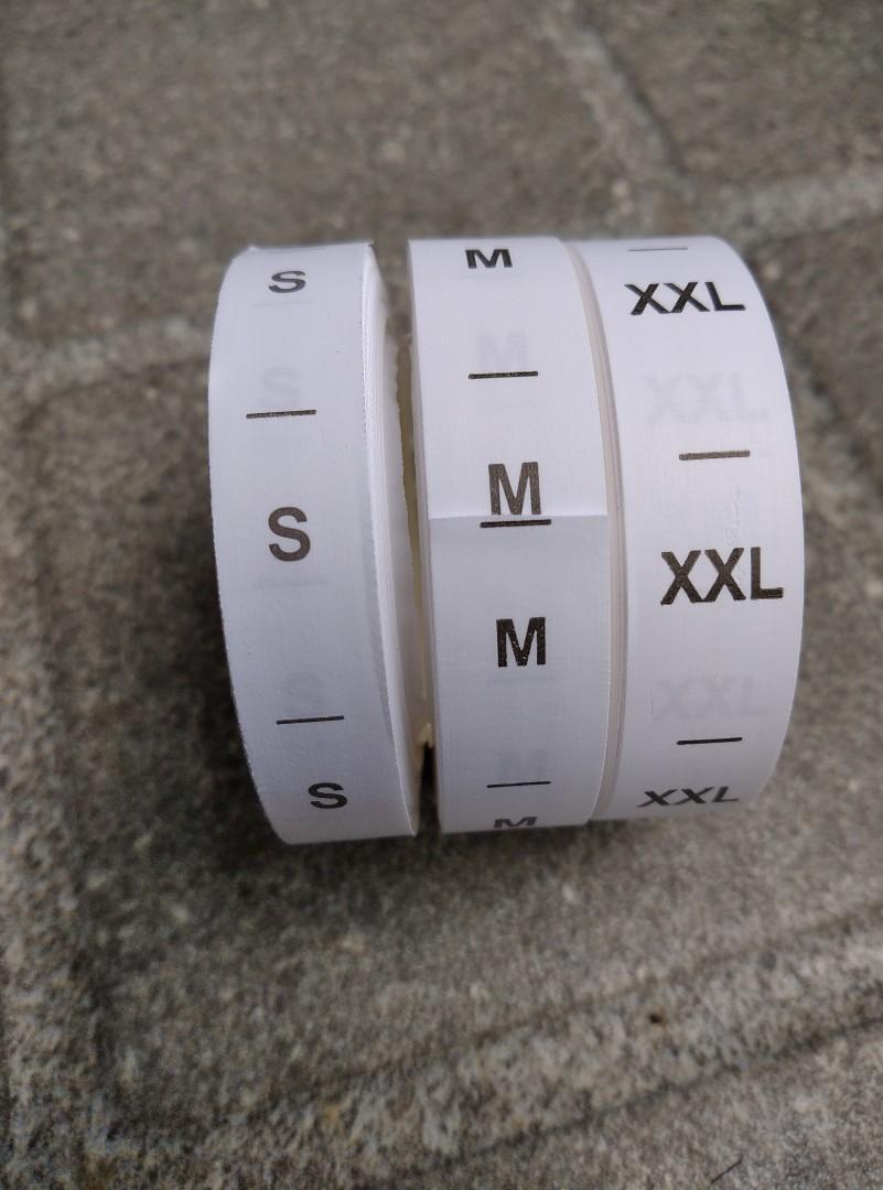 Size sablon ukuran S,M,XXL