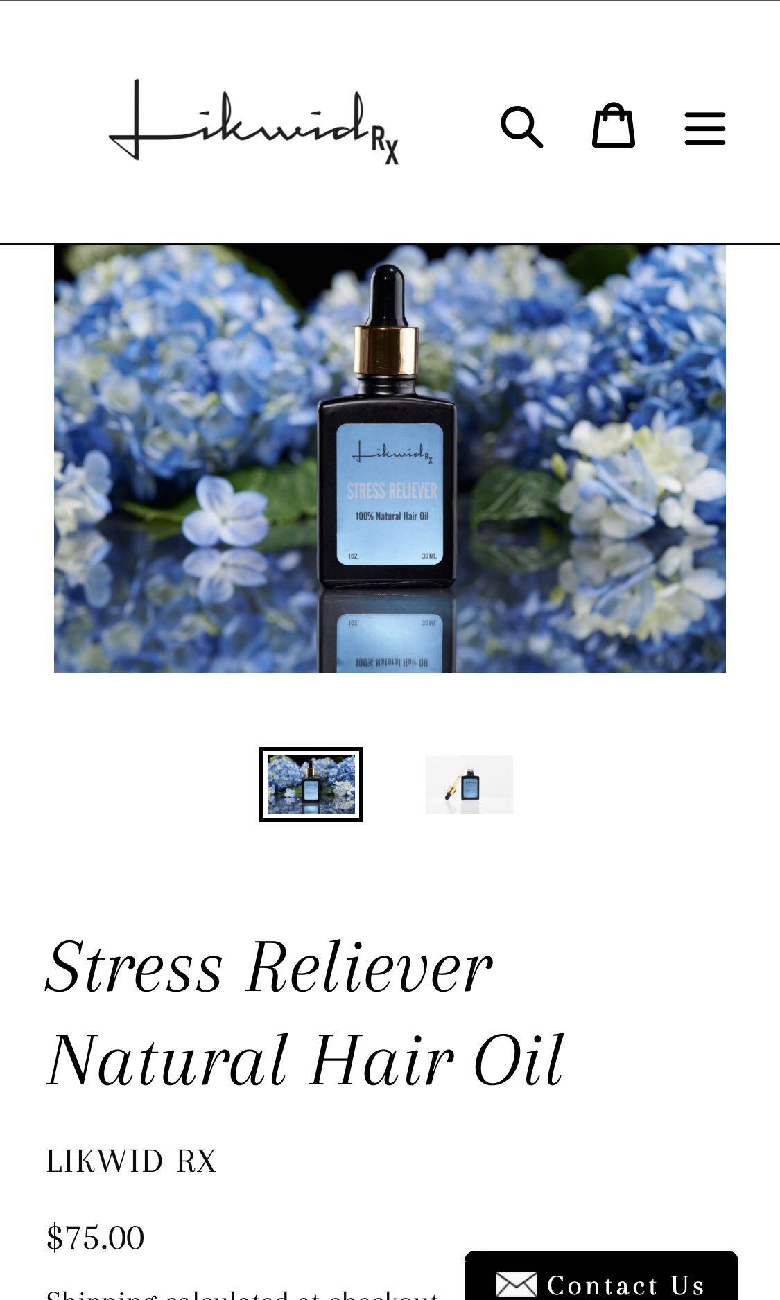 Stress reliever hair oil