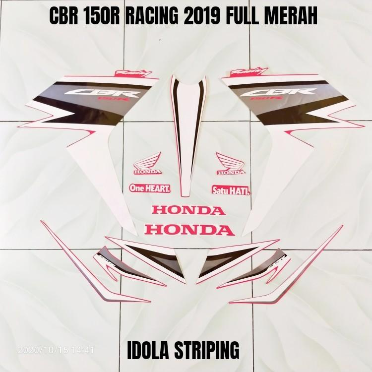 Striping CBR 150R Racing 2019 Full Merah