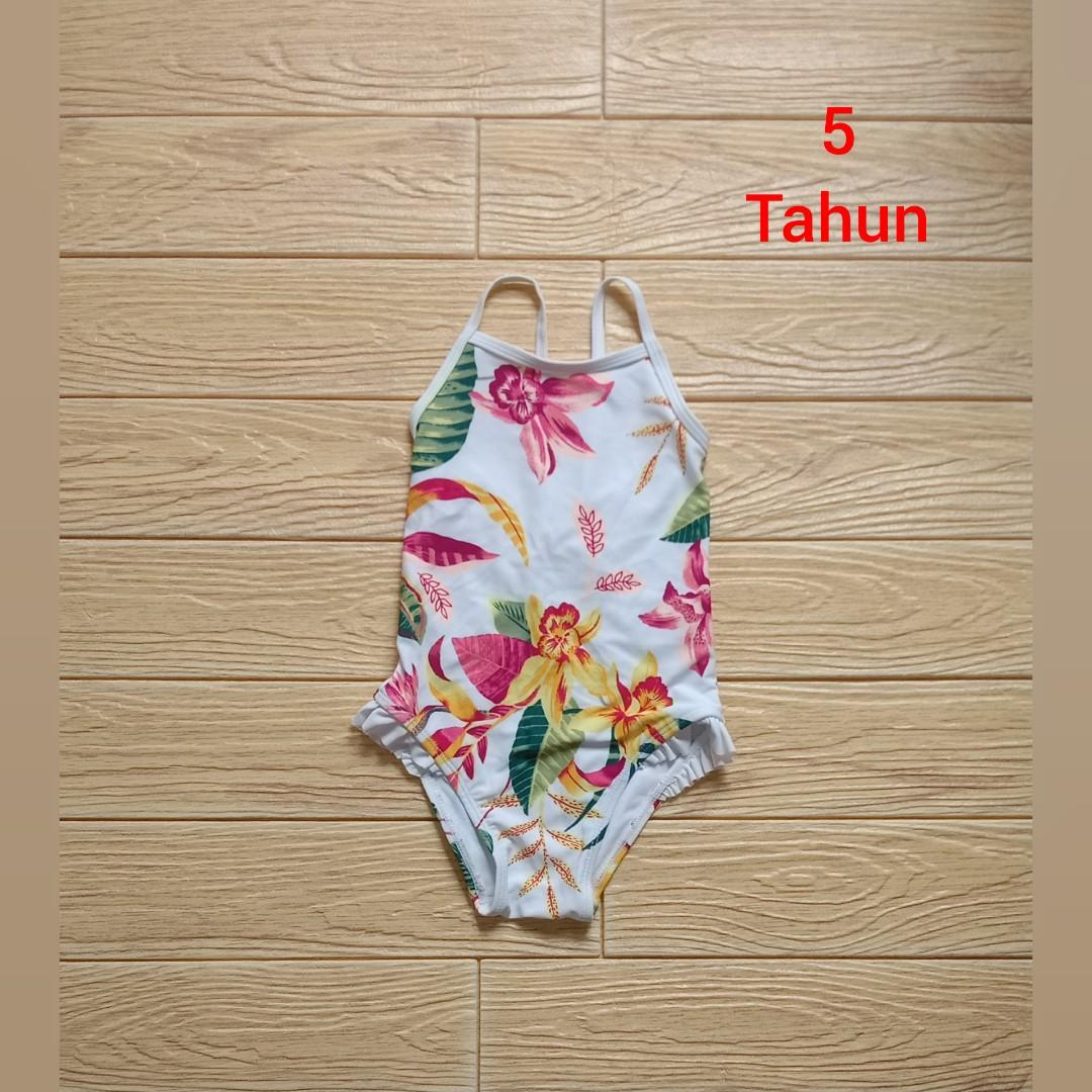 Swimsuit floral anak 5 tahun