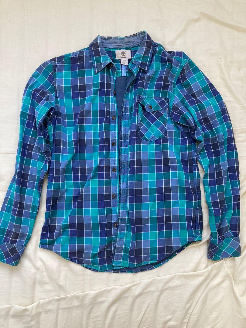 Timberland 格子襯衫