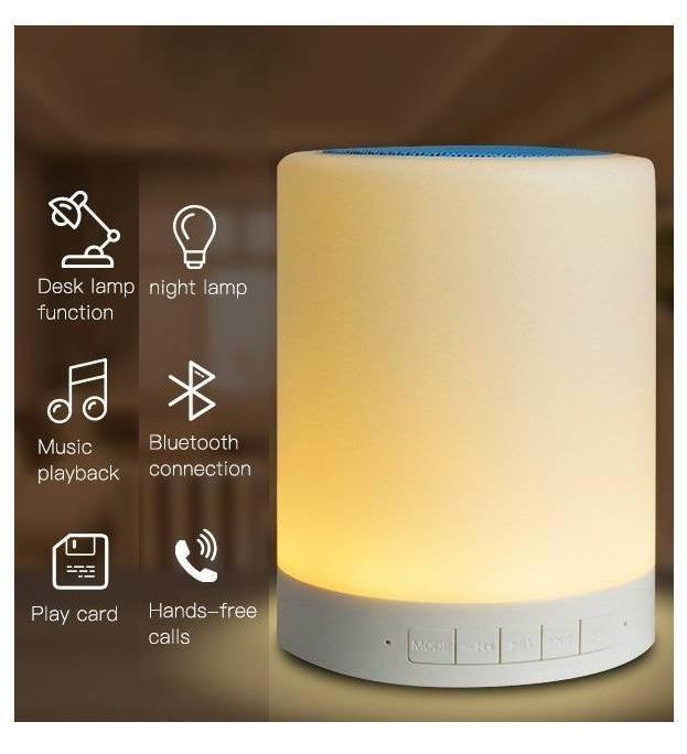 【全新|娃娃機商品】TOUCH LAMP PORTABLE SPEAKER CL-671 Wireless Bluetooth speaker藍芽喇叭音箱音響(觸控感應燈光/露營燈小夜燈/支援記憶卡)