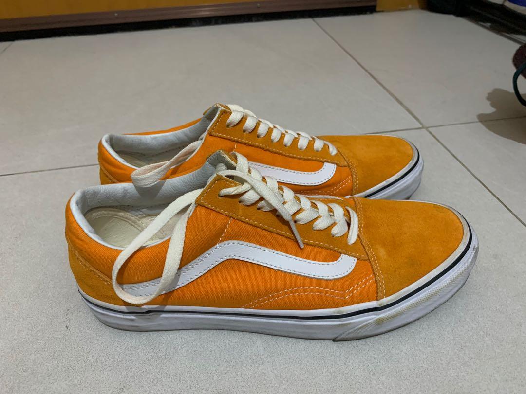 Vans Old Skool Orange, Women's Fashion